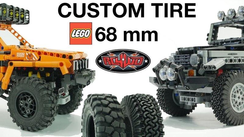 TEST DRIVE 68mm NEW tires for LEGO ТЕСТ Драйв новой резины для ЛЕГО