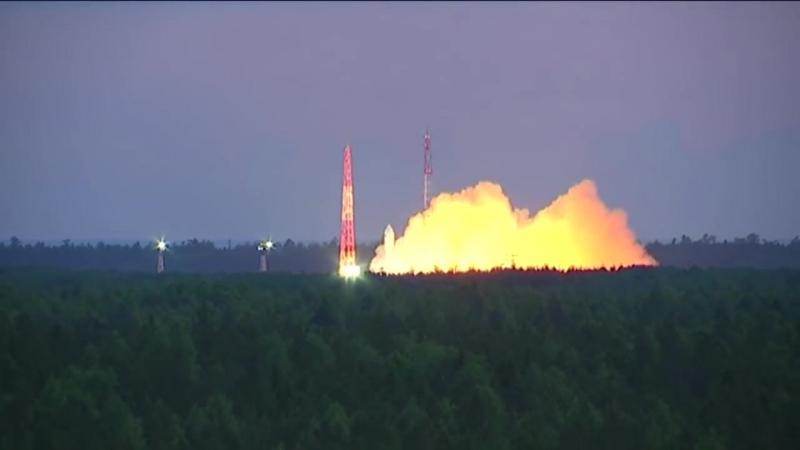 Пуск ракеты Союз 2 1Б на космодроме Плесецк 17 июня 2018 г
