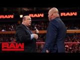 Paul Heyman answers Kurt Angle's ultimatum Raw, July 16, 2018