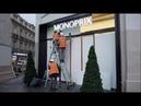 Gilets jaunes les commerçants des Champs Élysées se barricadent 7 décembre 2018 Paris