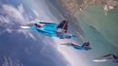 Групповая петля Нестерова изкабины истребителя Су-30СМ пилотажной авиагруппы «Русские витязи»