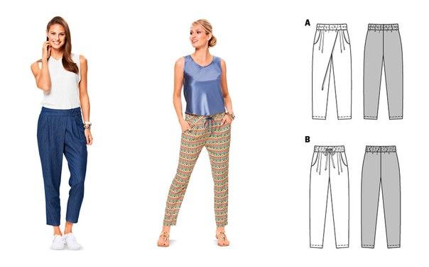 Как сшить брюки на резинке женские