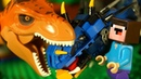 ДРАКОН против ДИНОЗУБРА 🦖 Лего НУБик Майнкрафт ФНАФ и Lego Jurassic World - Мультфильмы для Детей