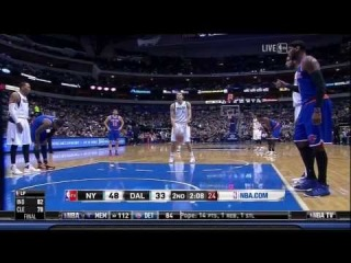 JR Smith Unties Shawn Marion's Shoe During Dirk FT