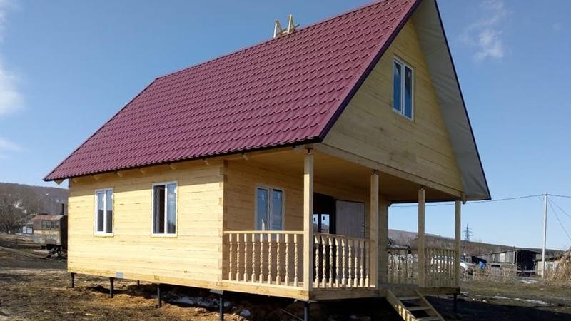 Строительство дома в Прокопьевском районе (6х8м), п. Индустрия, ул. Молодежная