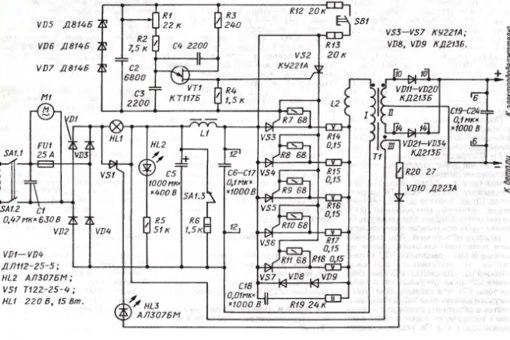 конденсаторы С6-С17
