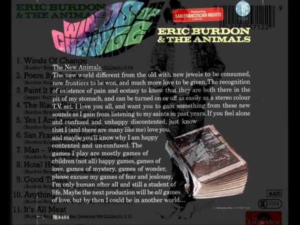 Paint It Black Eric Burdon The Animals 1967