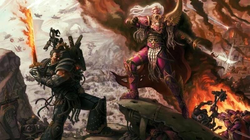 Warhammer 40000 ● Фениксиец и Горгон. (Фулгрим и Феррус Манус)