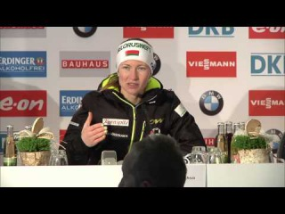 Pressekonferenz Mass Start Women Winners - BMW IBU Weltcup Biathlon Oberhof 2015