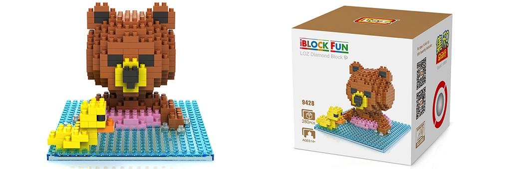 "Конструктор LOZ Diamond Block iBlock Fun ""Тед в бассейне"" 9428"