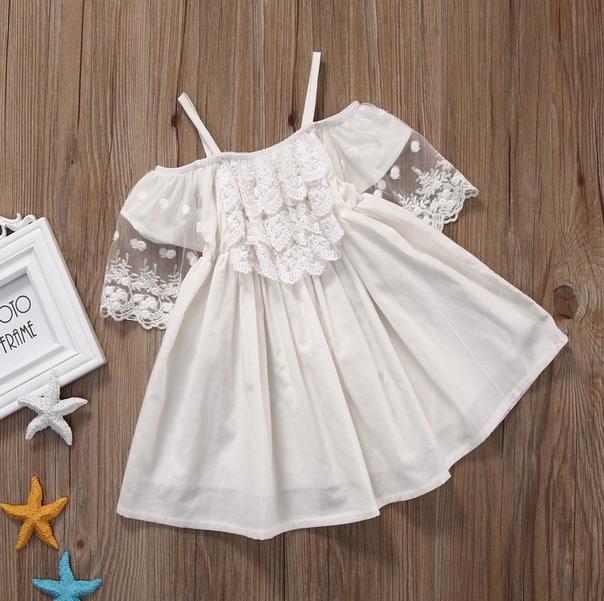 Нежное белое платье – 🔥 © alipab.ru.