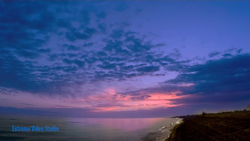 Иссык-куль восход солнца . Sunrise. GoPro time laps, Issik kul.