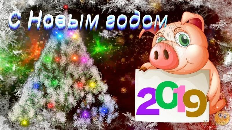 Весёлое музыкальное поздравление с Новым 2019 Годом - годом СВИНЬИ