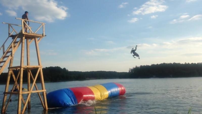 Необычный аттракцион на голубых озерах