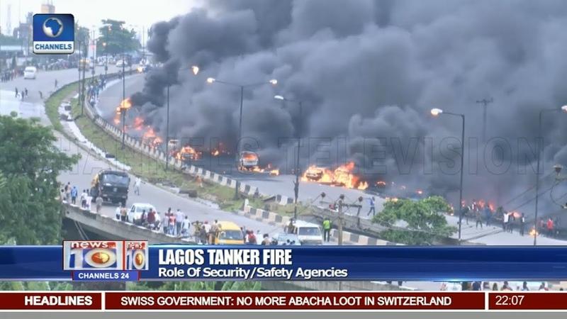 Lagos Fire Fuel Laden Tanker Explodes On Otedola Bridge