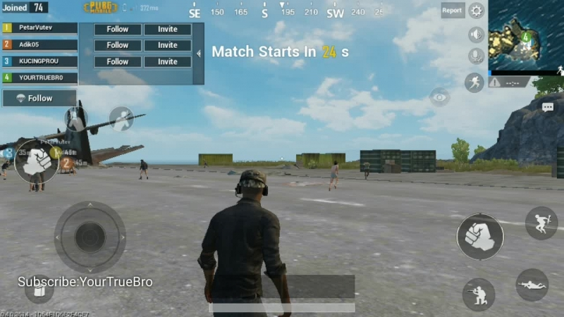 Playing agreesive on PUBG MOBILE