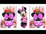 DIY Minnie Mouse Favors &amp pencil holder Minnie Mouse Party Ideas