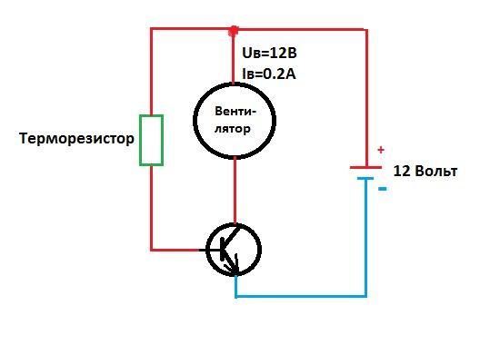 Если терморезистор установить