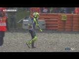 Падение Валентино Росси в гонке MotoGP Гран-При Нидерландов 2016