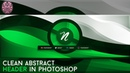 Tutorial: Clean Abstract Header in Photoshop by Qehzy