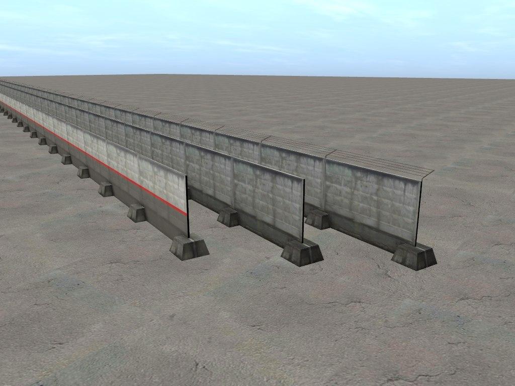 TRS: Пак из 3-х бетонных заборов