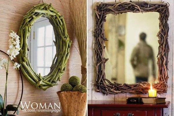 Как оформить зеркало фото