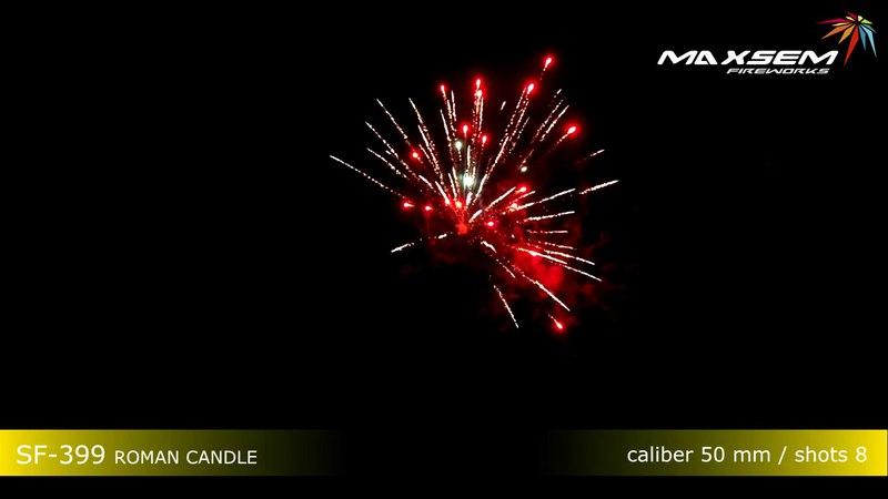Мощная римская свеча SF-399 ROMAN CANDLE 2 дюйма Maxsem Fireworks