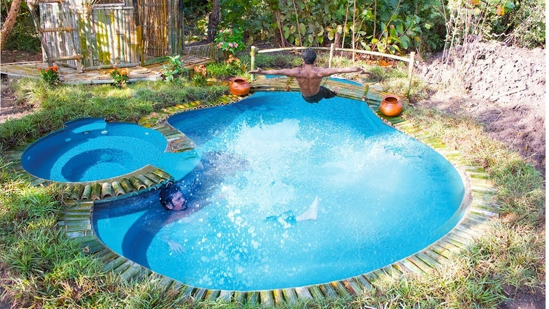 Building the most beautiful greatness swimming pool features in the deep forest