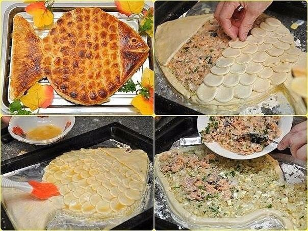 """ПИРОГ """"ЗОЛОТАЯ РЫБКА"""" Ароматный горячий рыбный пирог, приготовленный"""