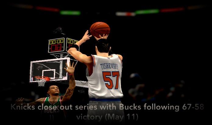 Никс выиграли у Бакс - НБА