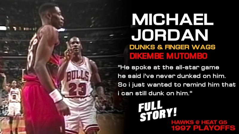 Michael Jordan Dunks And Finger Wags Dikembe Mutombo, Gets The Technical! (FULL STORY)