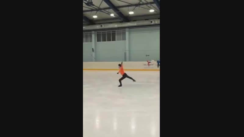 Дмитрий Алиев исполнил на тренировке все существующие четверные прыжки: тулуп, сальхов, риттбергер, флип и лутц.