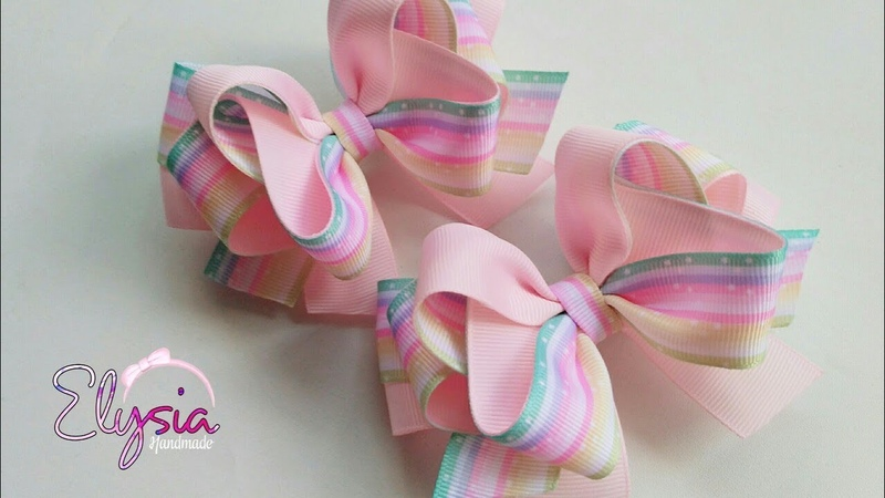 Rosy Ribbon Bow 🎀 Tutorial 🎀 DIY by Elysia Handmade