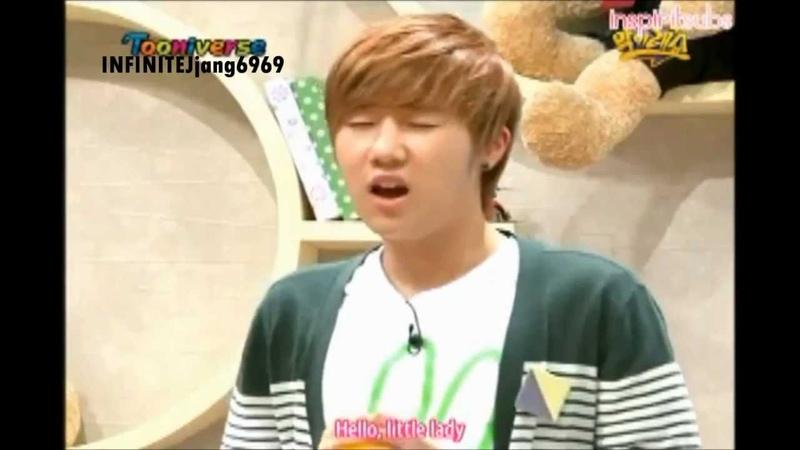 Sunggyu imitating Sungjong lemon candy scene