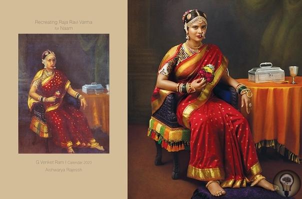 КАК НА КАРТИНЕ Фотограф воспроизвел полотна XIX века.Воссоздание полотен художника Рави Вармы с живыми моделями проект индийского фотографа Венкета Рамы, который стал основой для его календаря