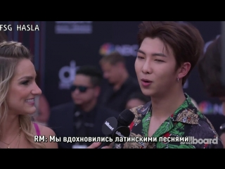 [RUS SUB] BTS Talks Love of Latin Pop and Show Off BBMA Victory Dance - BBMAs 2018