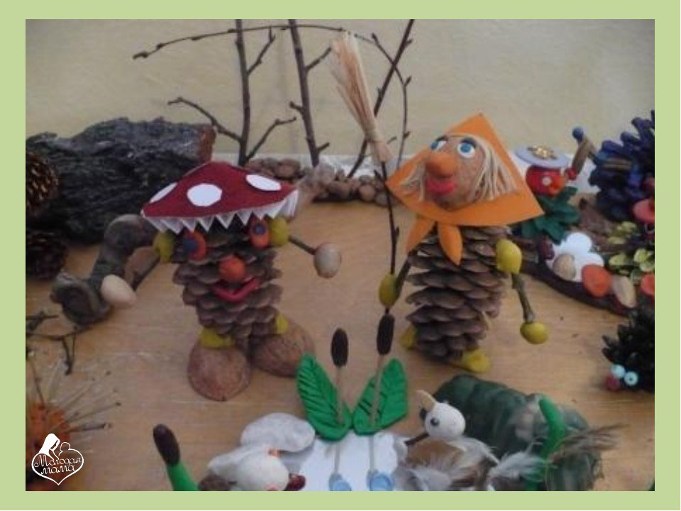 Поделки из природных материалов на тему осень своими руками фото