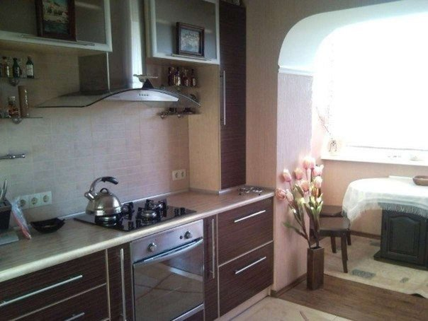 Кухня с присоединенным балконом #DIY_Идеи