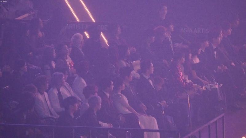 181128 트와이스(TWICE),아이유(IU),워너원 방탄소년단 (BTS) - IDOL 아이돌 Reaction [4K] 직캠 (Asia Artist Awards) by Mera