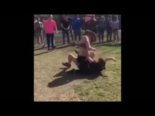 Girl fight turned into a brawl!