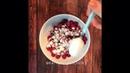 Завтрак • Вареники с вишней
