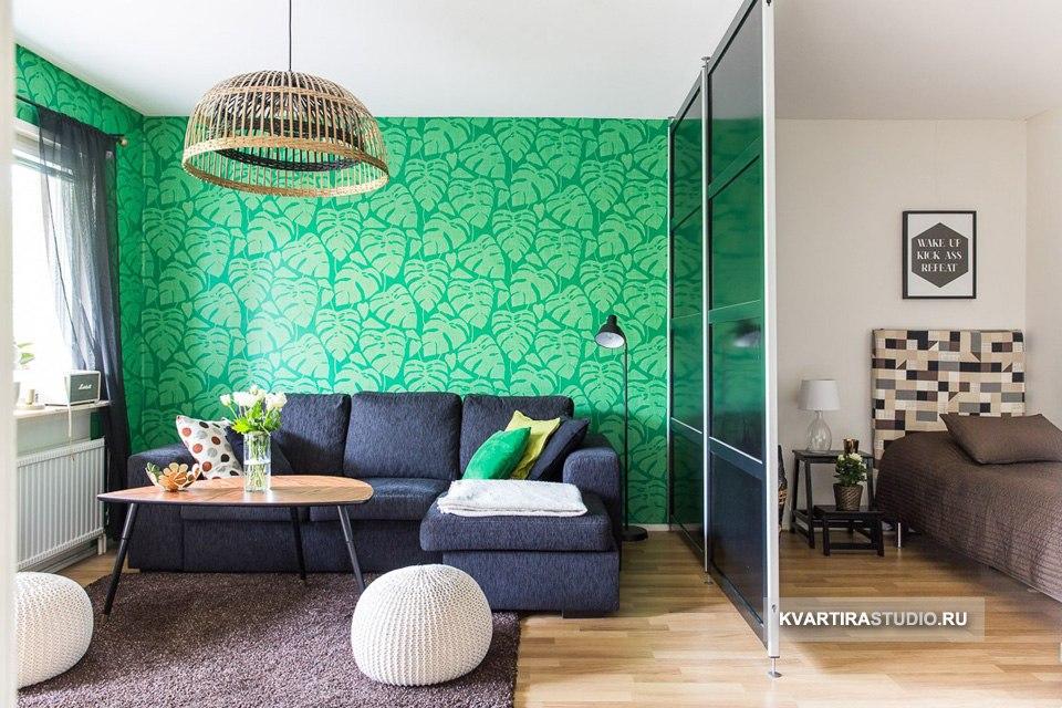 Все способы зонирования совмещенной гостиной-спальни - http://kvartirastudio.