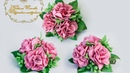 Украшение с маленьких розочек из фоамирана.МК.Decoration from small roses from foyamina.MK.