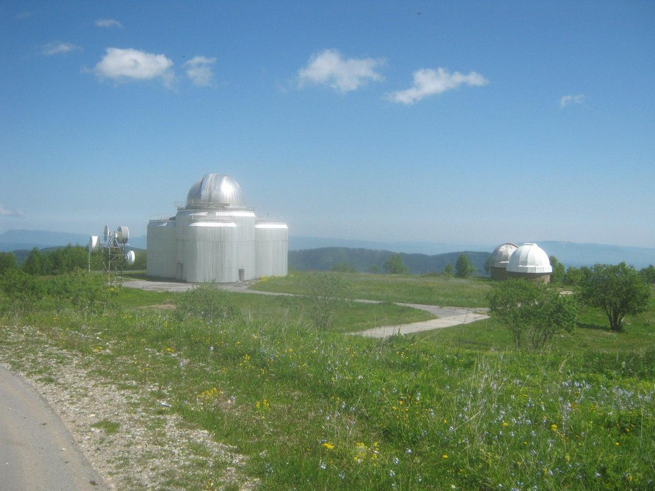 телескоп ГЕЙС в обсерватории в Нижнем Архызе