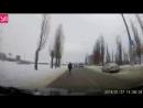Водитель чудом увернулся от глухого пешехода в Воронеже и попал на видео