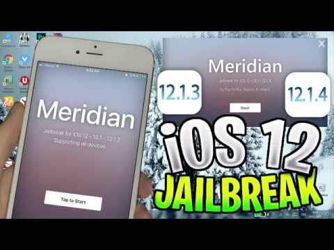 Meridian 12 How to JB iOS 12 - 12.1.2 - 12.1.3 and 12.1.4 Updated Jailbreak!