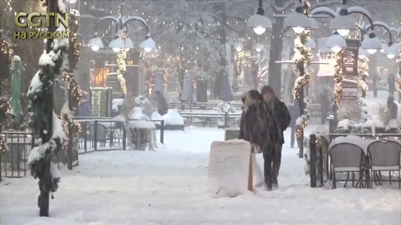 На Северную Каролину США обрушился мощный снегопад