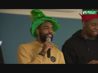 Kyrie Irving led the Celtics in Jingle Bells