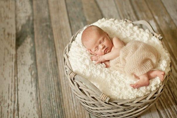 Съемка младенцев в домашних условиях