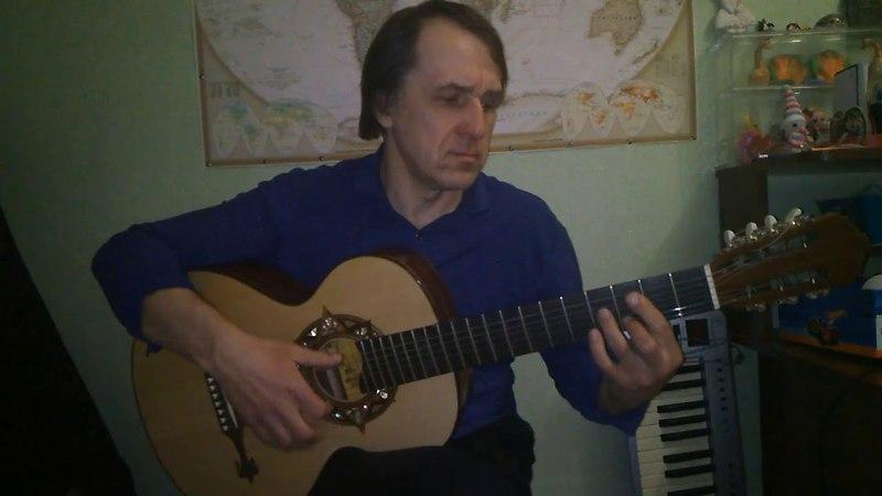 Цыганская семиструнная гитара мастера Сергея Туманова.